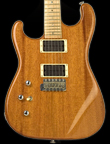 Left handed strat shaped custom guitar, mahogany body