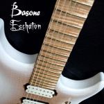 custom 7-string guitar, fretboard detail, handcrafted in Vancouver Canada at Basone
