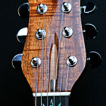 Marijuana leaf guitar, Hawaiian KOA headstock veneer