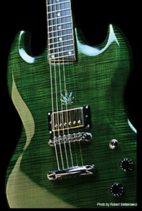 Custom guitar, sg shaped, handcrafted in Vancouver BC