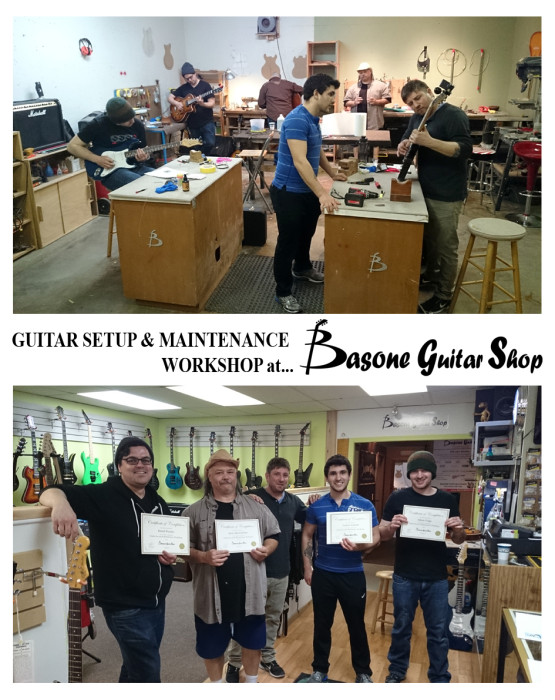 Guitar Setup and Maintenance Classes at Basone in Vancouver Canada