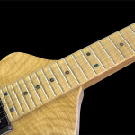 Handcrafted Lap Steel Guitar, Flamed Maple top, Maple fingerboard