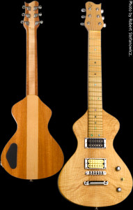 Custom Lap Steel Guitar 1, Alder Mahogany hybrid body with Flamed Maple top