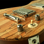 Custom Lap Steel Guitar, Spalted Maple top close up
