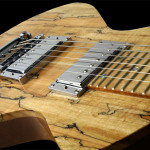 Handcrafted Lap Steel Guitar, Spalted Maple top close up
