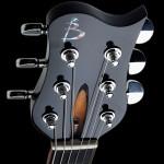 Phoenix Custom guitar headstock detail shot. Robert Stefanowicz