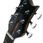 Carved body custom guitar, Ebony headstock