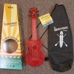 Kala WaterMan Transparent Watermelon Pink Soprano ukulele on sale in Vancouver Canada at Basone