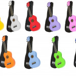 Mahalo Rainbow Series Soprano Ukuleles on sale in Vancouver Canada at Basone