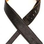 Levys DM1FF-BLK two and a half inch leather guitar strap on sale in Vancouver Canada at Basone