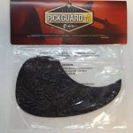 Leather Pickguard for Acoustic Guitar, Dark Brown, On sale in Vancouver Canada at Basone