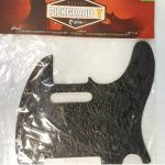 Leather Pickguard for Telecaster tele electric Guitar, Black, On sale in Vancouver Canada at Basone