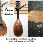 Bowlback Mandolin by LYON & HEALY, 1900's, made in Chicago ILL USA. Updated with Gotoh tuners. For sale in Vancouver Canada at Basone