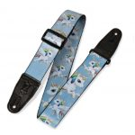 Levy's 2″ Sublimation Printed Guitar Strap With Genuine Leather Ends. Unicorn / Poney print. Adjustable To 65″ MPS2-132
