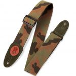 Levy's 2″ Signature Series Cotton Guitar Strap With Suede Ends And Tri-glide Adjustment. Adjustable To 65″. Camo Color MSSC8-CAM