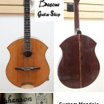 Mandola, handcrafted by Gene Stephenson (Oregon, USA) on March 10 1991. Serial #009. For sale in Vancouver Canada at Basone