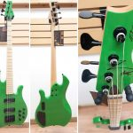 MarkBass MB KIMANDU GREEN 4 BK MAPLE 4-string Bass Guitar, Solid Green finish, made in Italy, for sale in Vancouver Canada at Basone