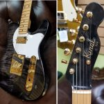 Kinal custom electric tele shaped guitar, handcrafted in Vancouver, for sale at Basone